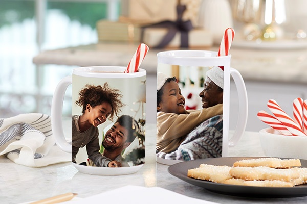 Family traditions, hot chocolate photo mugs SC1